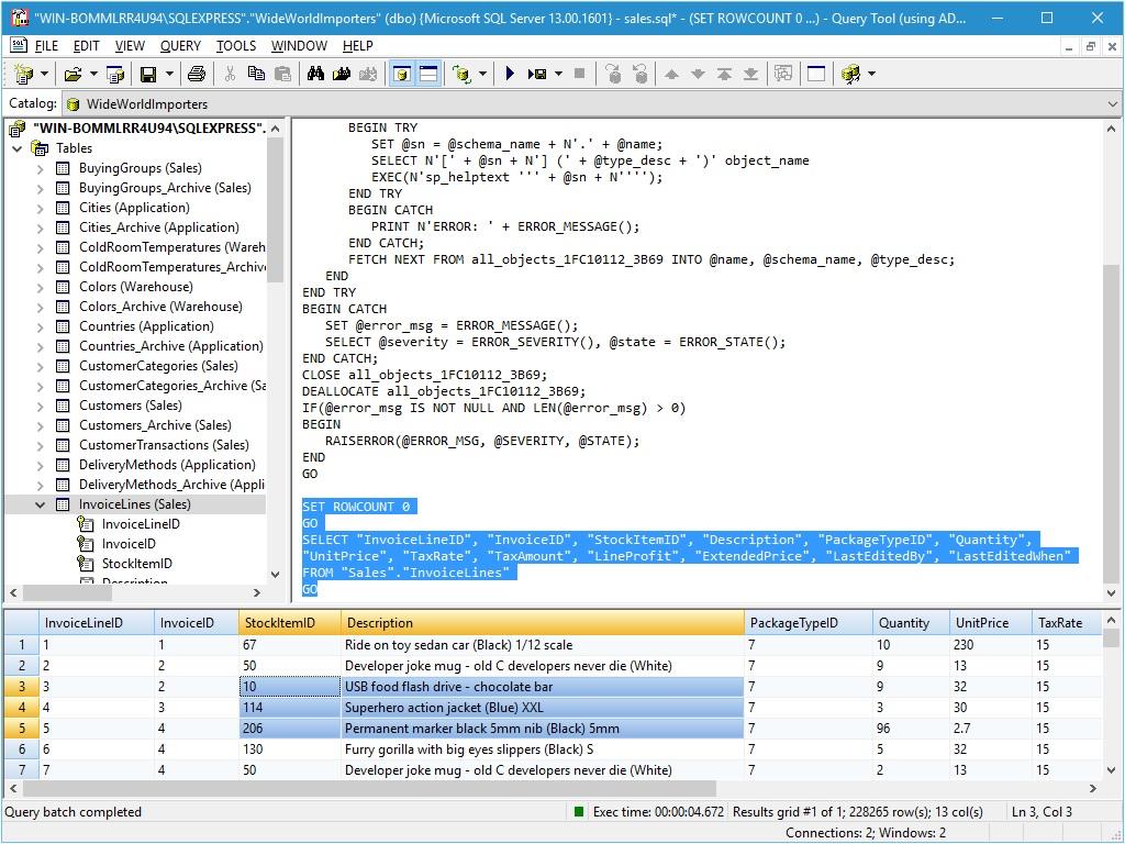 Query Tool (using ADO) 7.0 x64 Edition screenshot