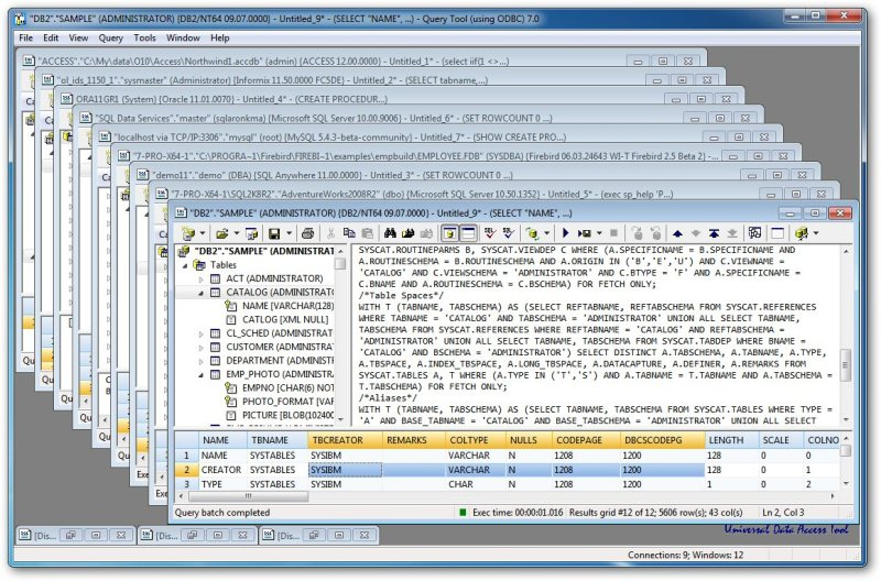 Click to view Query Tool (using ODBC) x64 Edition screenshots